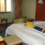 In our second, vastly nicer room.