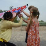 Sonia, our guide, brought kites to fly for a celebration. Very popular idea. Sam says: Best Birthday EVER.