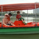 The boys' boat.