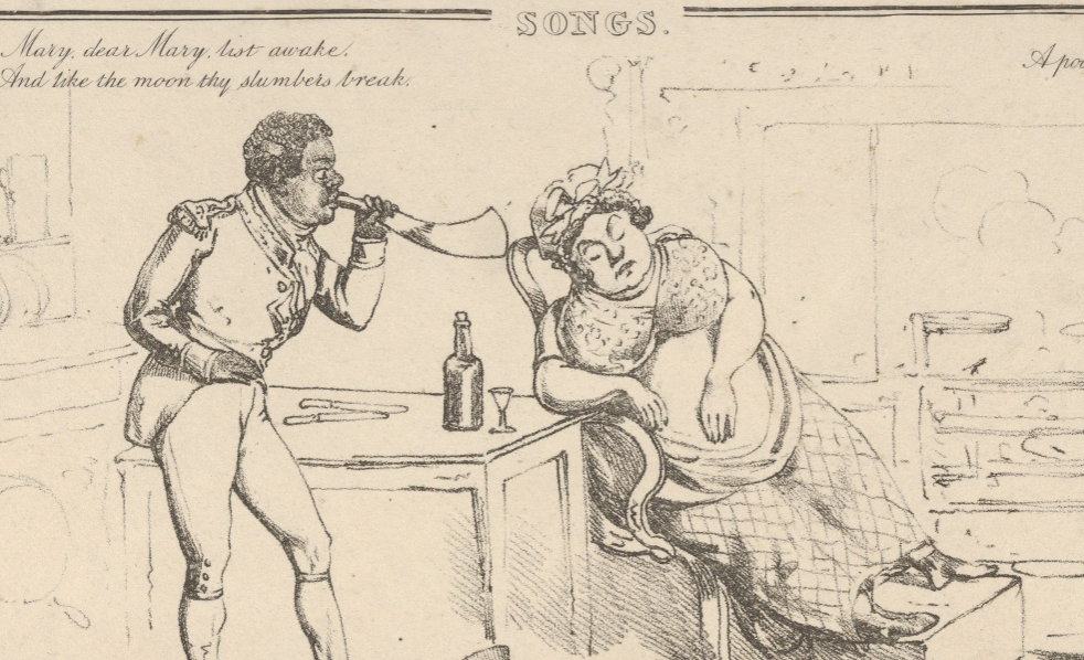Man wakes woman with bugle