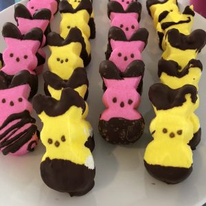 chocolate dipped peeps image