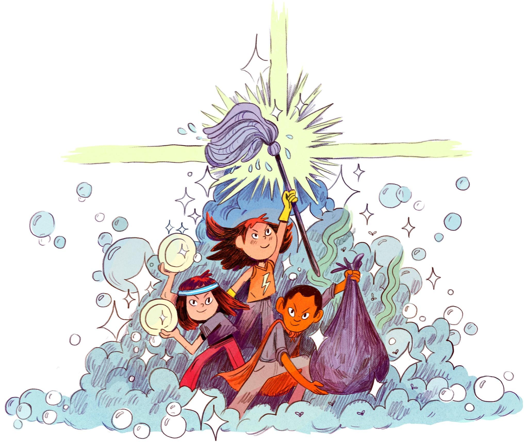 Happy Children Do Chores